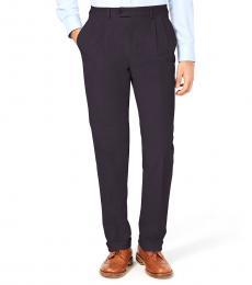 Ralph Lauren Black Regular Fit Dress Pants
