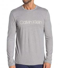 Calvin Klein Wolf Grey Long Sleeve T-Shirt