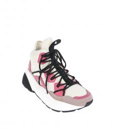 Multicolor Faux Leather Sneakers