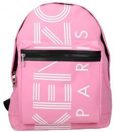Kenzo Pink Logo Large Backpack