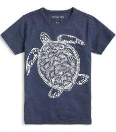J.Crew Little Boys Indigo Turtle Graphic T-Shirt