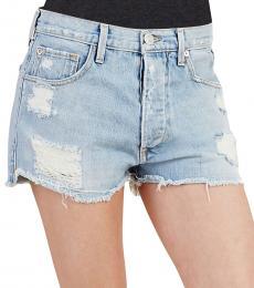 True Religion Vintage Boyfriend Denim Shorts