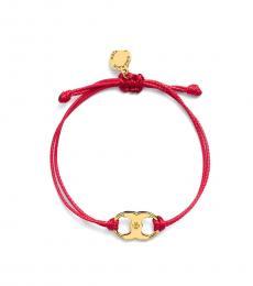 Tory Burch Red Embrace Ambition Bracelet