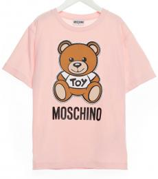 Moschino Little Boys Light Pink Teddy T-Shirt