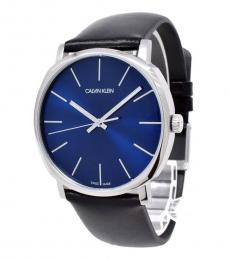 Calvin Klein Black Blue Dial Watch