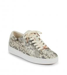 Michael Kors Sand Irving Snake-Print Sneakers