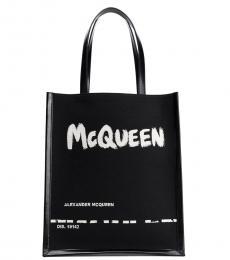 Alexander McQueen Black Logo Medium Tote