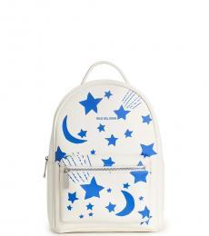 True Religion White Graphic Mini Backpack