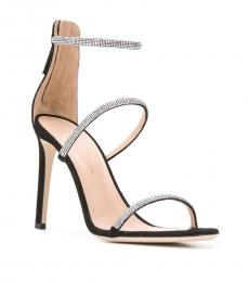 Giuseppe Zanotti Black Cystal Strap Heels