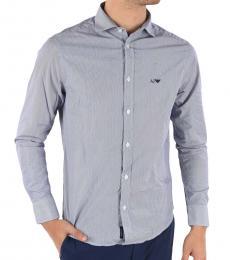 Armani Jeans Blue Striped Shirt