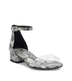 Vince Camuto Girls Grey Snake Print Pascala Heels