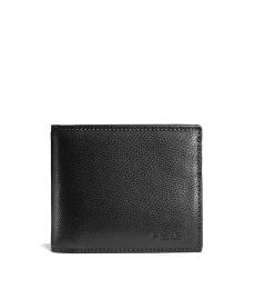 Coach Black Compact Id Wallet