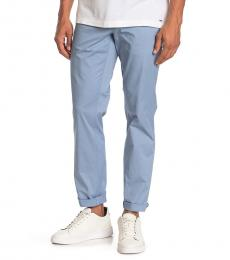 Michael Kors Blue Slim-Fit Washed Poplin Chinos