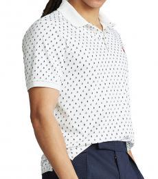 Ralph Lauren White Custom Slim-Fit Polo