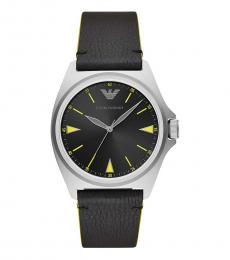 Emporio Armani Black Logo Watch