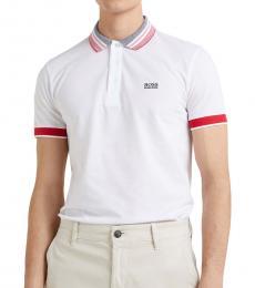 Hugo Boss White Paule Slim Fit Polo