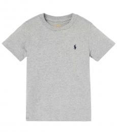 Ralph Lauren Little Boys Andover Heather Crewneck T-Shirt