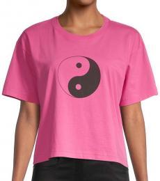 Rebecca Minkoff Rose Courtney Yin Yang Graphic T-Shirt