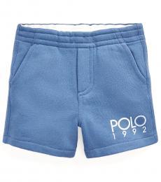 Ralph Lauren Baby Boys Bastille Blue Polo 1992 Fleece Shorts