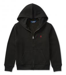 Ralph Lauren Boys Black Full Zip Hoodie