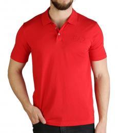 Emporio Armani Red Front Logo Polo