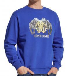 Royal Blue Graphic Logo Sweatshirt