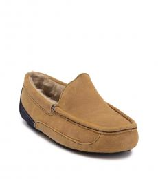 UGG Tan Ascot Faux Fur Loafers