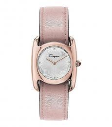 Salvatore Ferragamo Pink Silver Dial Watch
