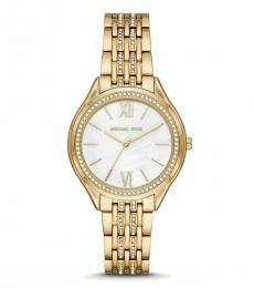 Michael Kors Golden White Dial Watch