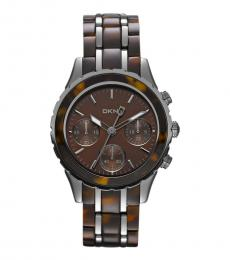 DKNY Brown Brooklyn Chronograph Watch
