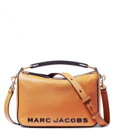 Marc Jacobs Brown The Softbox Medium Crossbody Bag