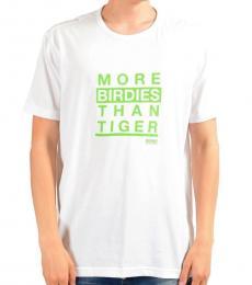 Hugo Boss White Graphic Print Crewneck T-Shirt