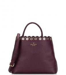 Kate Spade Deep Plum Paloma Road Small Satchel