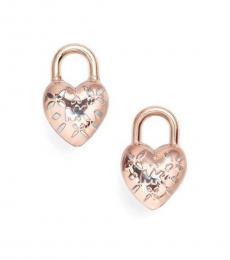 Michael Kors Rose Gold Logo Love Earrings