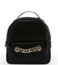 Versace Jeans Black Chain Small Backpack