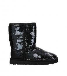 UGG Black Ankle Sequin Boots