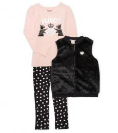 Juicy Couture 3 Piece Vest/Top/Leggings Set (Little Girls)