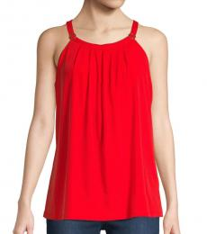 Red Circle Halter Top