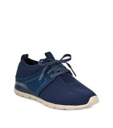 Navy Willows Mesh Sneakers