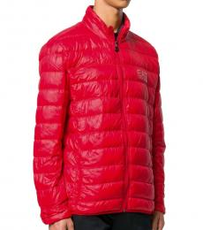 Emporio Armani Red Down Padded Logo Jacket