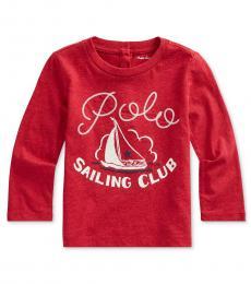 Ralph Lauren Baby Girls Flame Sailing Club Top
