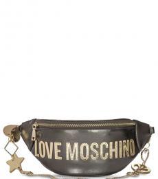 Love Moschino Metal Logo Large Belt Bag