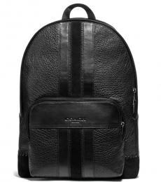 Coach Black Baseball Stitch Houston Large Backpack