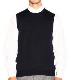 Dark Blue Wool Sleeveless Sweater