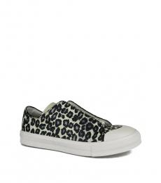 Black Ivory Leather Sneakers