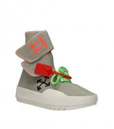 Off-White Grey Moto Wrap Sneakers
