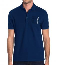 Indaco Blue Medusa Chest Polo