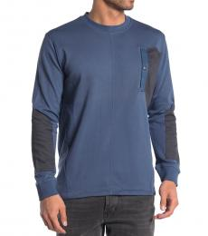 Diesel Navy Blue Skim Colorblock Sweater