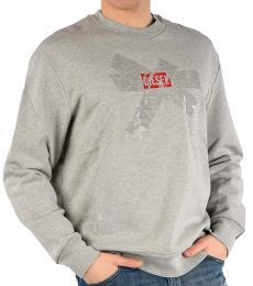 Diesel Grey Printed Bay Sweatshirt