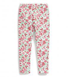 Ralph Lauren Little Girls Pink Multi Floral Jersey Leggings